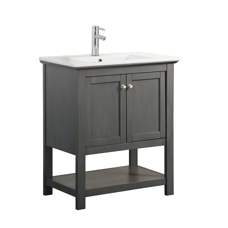 "Wayfair Bathroom Vanity >> Fresca Cambria Manchester 30"" Single Bathroom Vanity Set & Reviews 