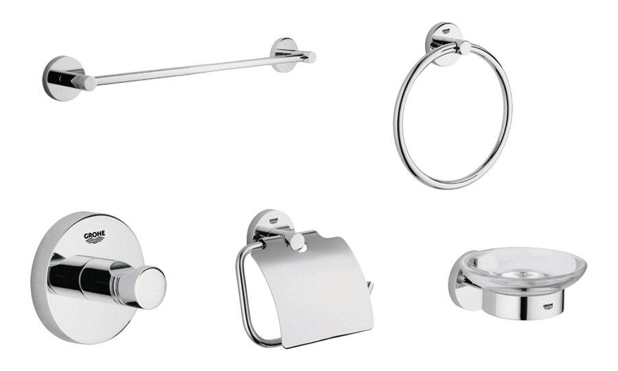 Grohe Essentials 5 Piece Bathroom Hardware Set & Reviews | Wayfair