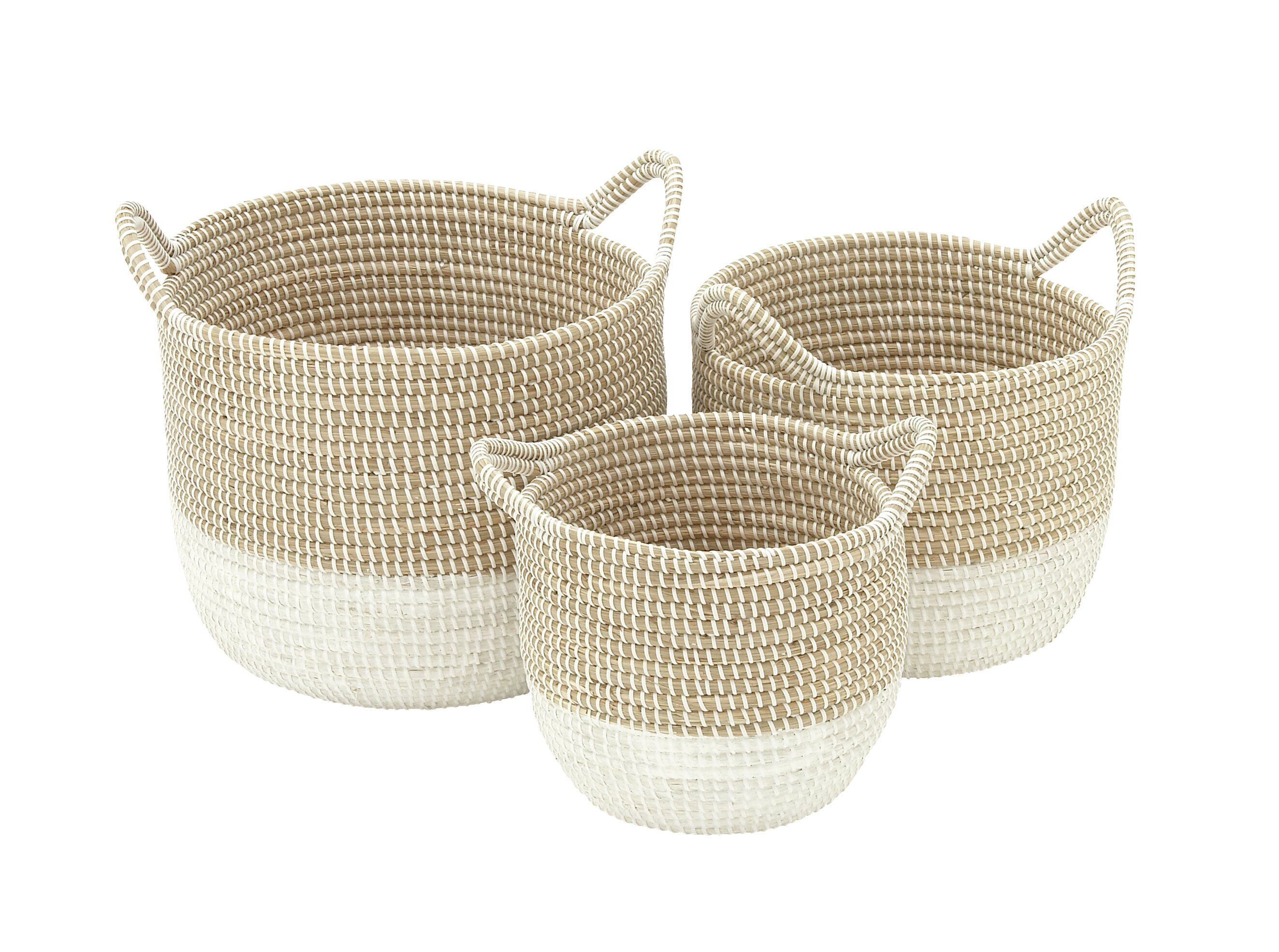 Seagrass 3 Piece Basket Set & Reviews | AllModern