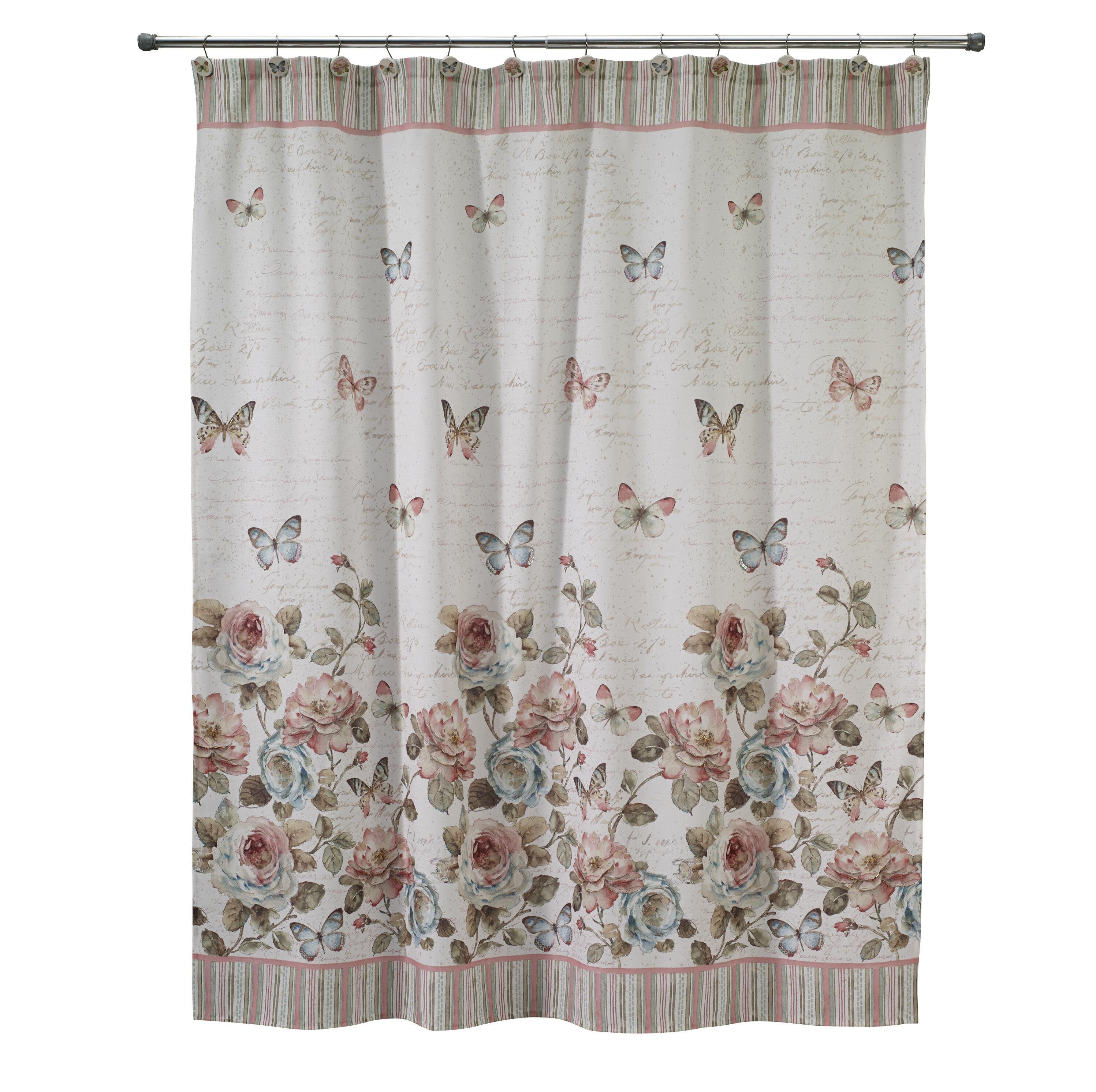 47d674b2318a August Grove Culbreth Butterfly Shower Curtain