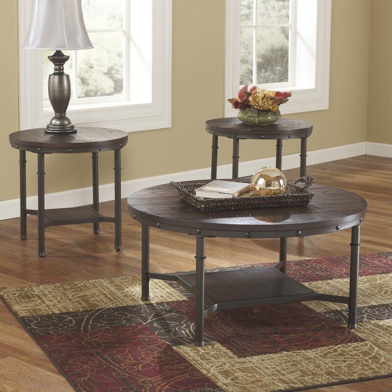 Croley 3 Piece Coffee Table Set & Loon Peak Croley 3 Piece Coffee Table Set u0026 Reviews | Wayfair