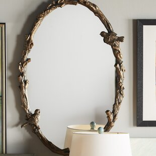 Eliana Oval Mirror In Antique Gold Leaf