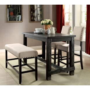Bar height table set wayfair ahner counter height pub table watchthetrailerfo