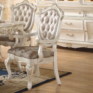 Wensley Scrolled Detail Trim Upholstered Dining Chair (Set of 2)