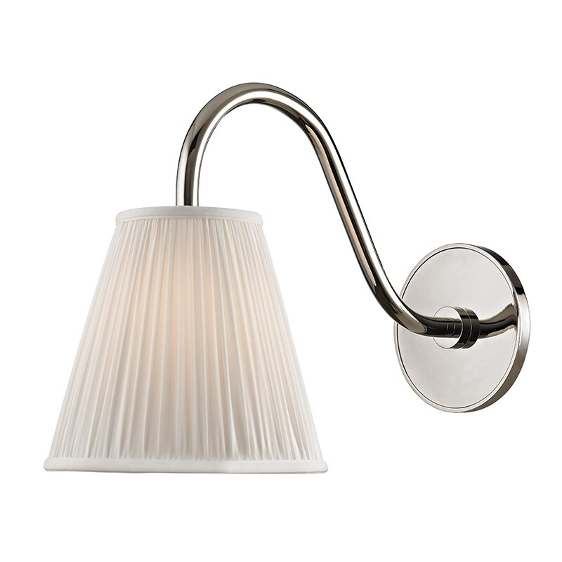 Hudson Valley Lighting Bourne: Hudson Valley Lighting Remsen 1-Light Armed Sconce