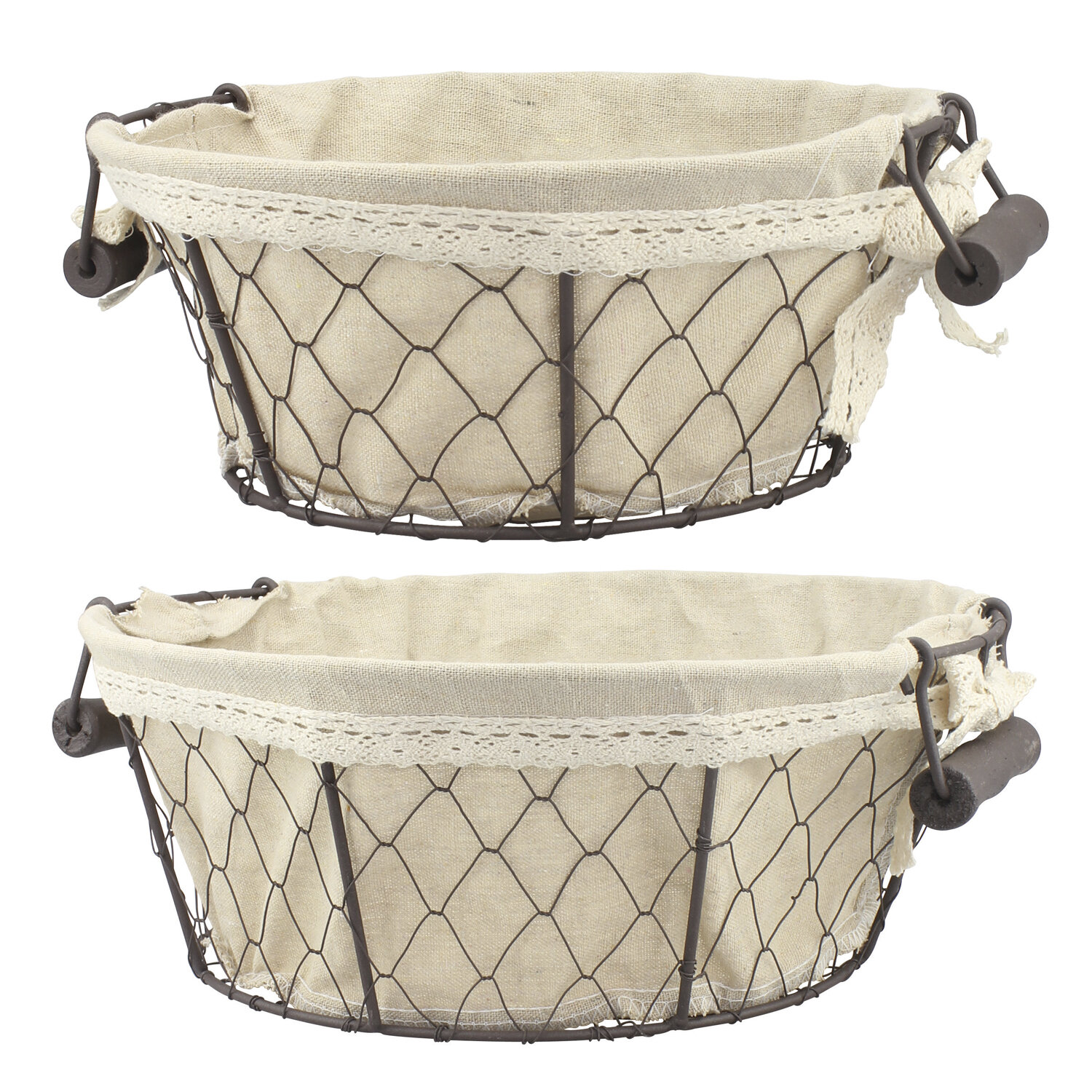 Ophelia & Co. Windall 2 Piece Round Wire Basket Set & Reviews ...