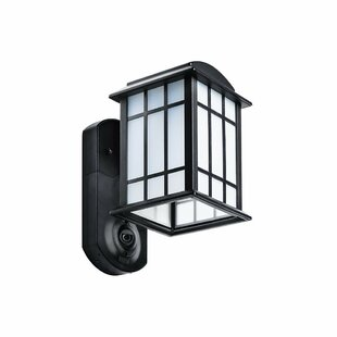 Porch light security camera wayfair veana security camera outdoor wall lantern aloadofball Gallery