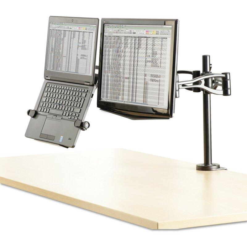 Desk Mount Dual Monitor Arm Height Adjustable Universal 2 Screen Desk Mount