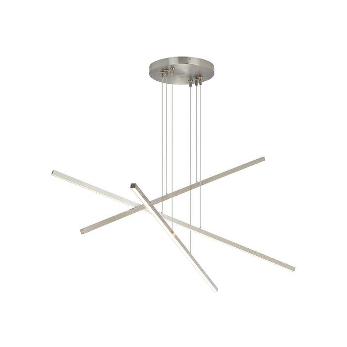 Essence trio linear 3 light geometric pendant