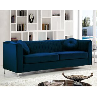Royal Blue Suede Couch | Wayfair