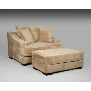 Marina Chair and a Half and Ottoman by Fleur De Lis Living