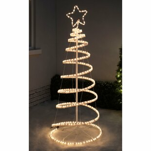christmas flashing 3d spiral tree rope lighted display