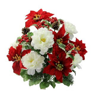 Poinsettia artificial flowers youll love wayfair poinsettia artificial flowers mightylinksfo