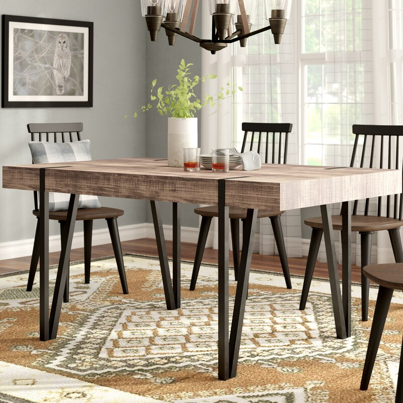 Union Rustic Weeks Dining Table
