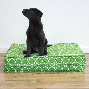 Green 5u201d Thick Soft/Firm Reversible Comfort Gel Memory Foam Orthopedic Dog Bed
