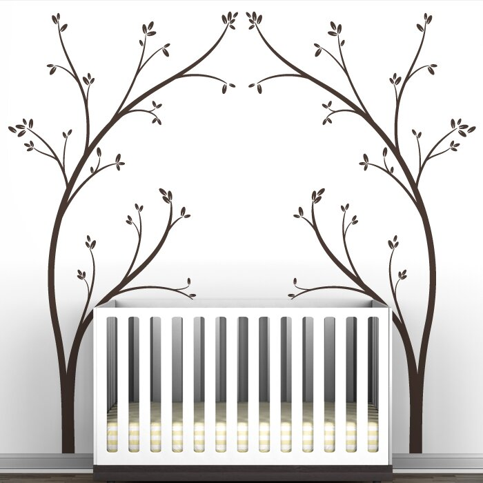 "littlelion studio portal ""tree canopy bed headboard"" wall decal"