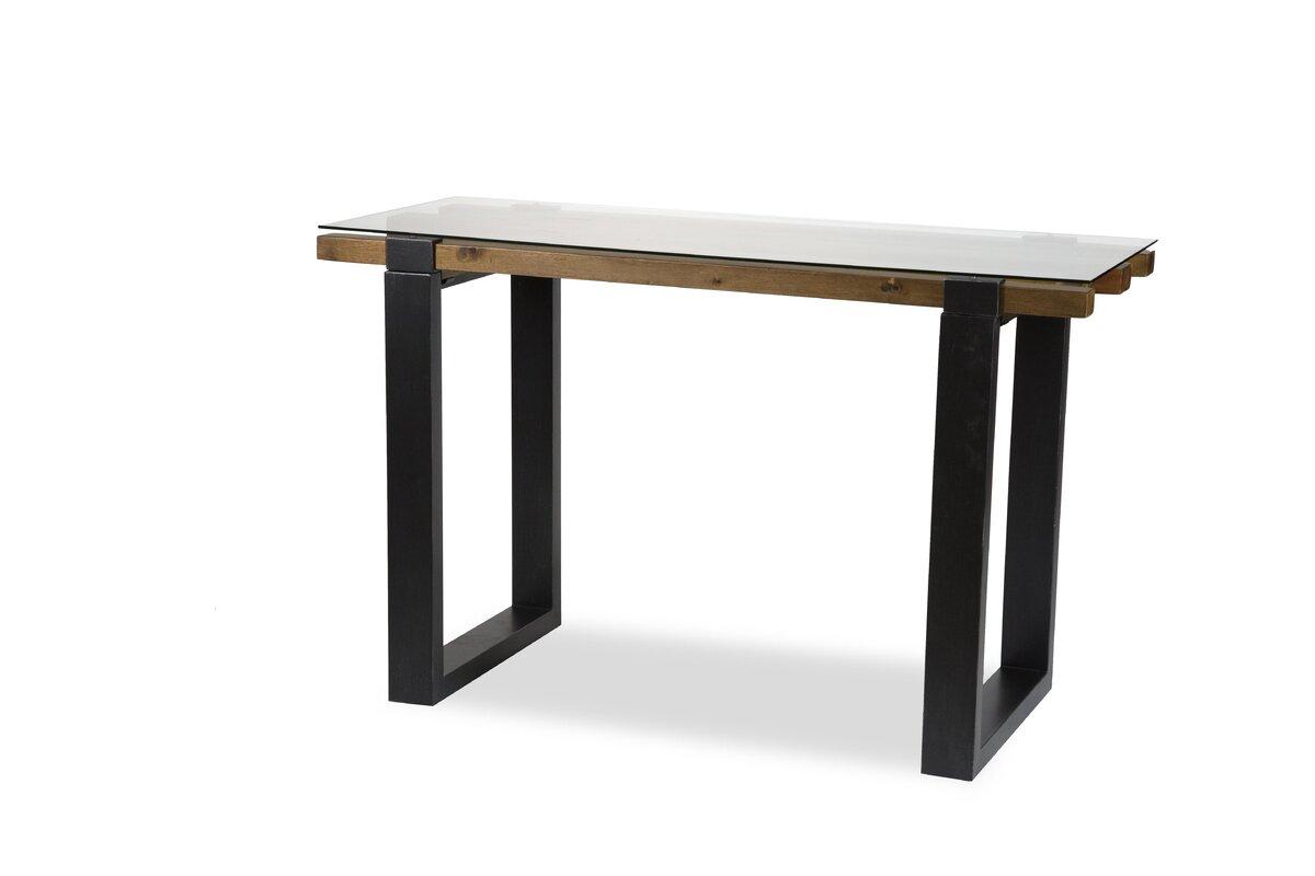 Michael amini keystone console table reviews wayfair keystone console table geotapseo Image collections