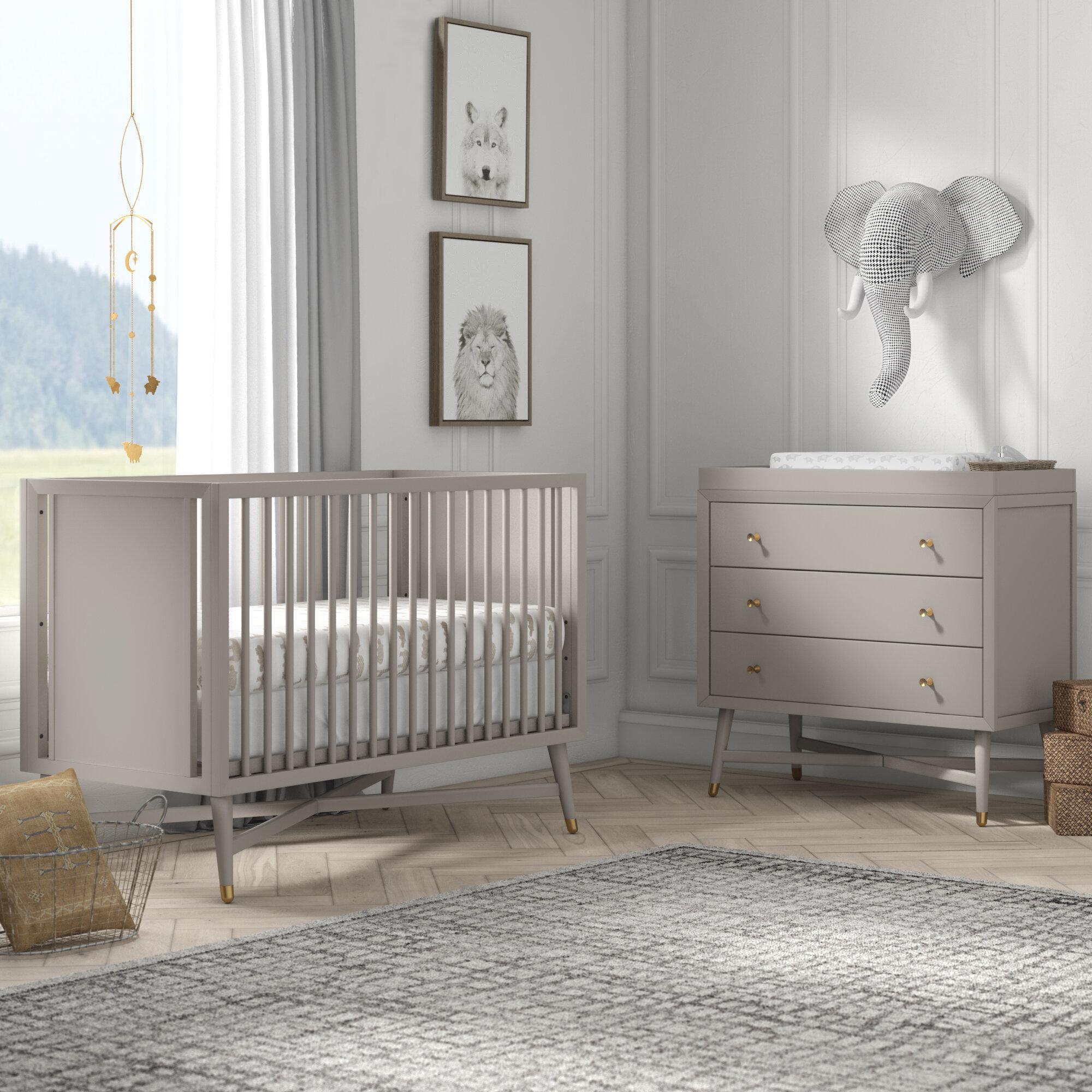 Mcpartland Mid Century 3 In 1 Convertible Standard 2 Nursery Furniture Set