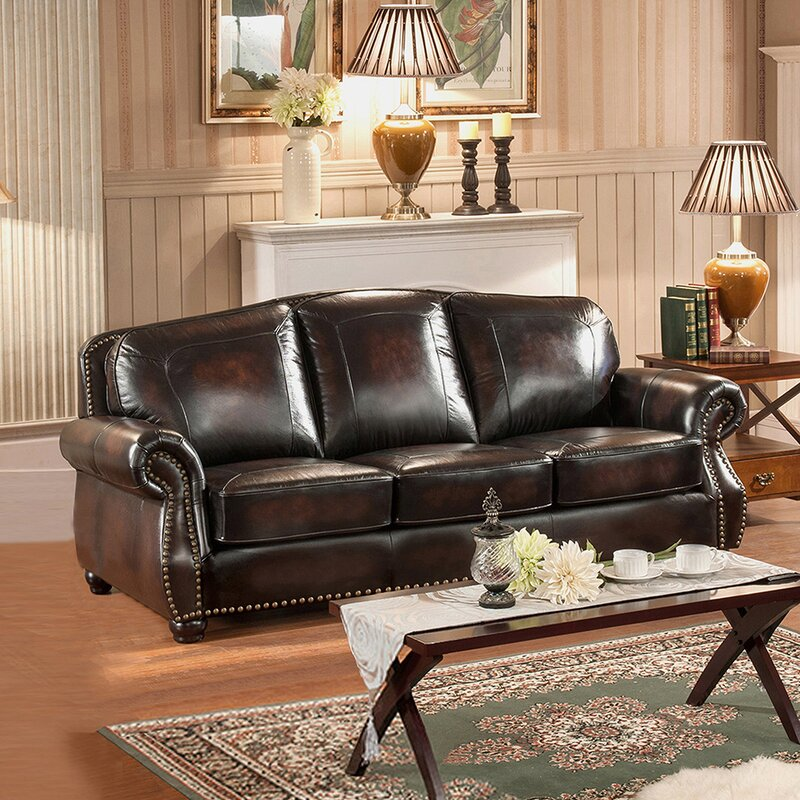 Amax Vail 3 Piece Leather Living Room Set Reviews
