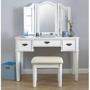 Burton Dressing Table Set With Mirror