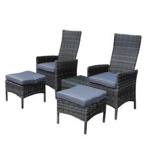 4-Sitzer Loungemöbel-Set Sano von Castleton Home