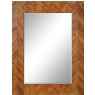 Deco Reclaimed Wood Rectangular Accent Mirror