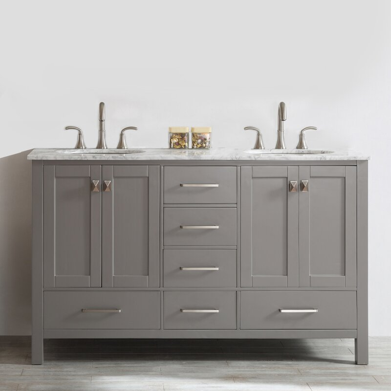 double bathroom vanity. Newtown 60  Double Bathroom Vanity Beachcrest Home Reviews Wayfair