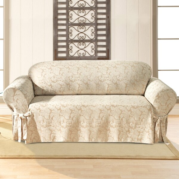 Sure Fit Scroll Classic Box Cushion Sofa Slipcover U0026 Reviews   Wayfair