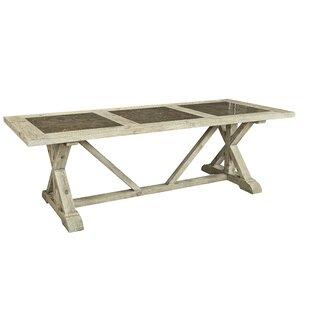 Zana Tri-Stone Solid Wood Dining Table