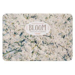 Bloom Where You Are Planted by Robin Dickinson Bath Mat
