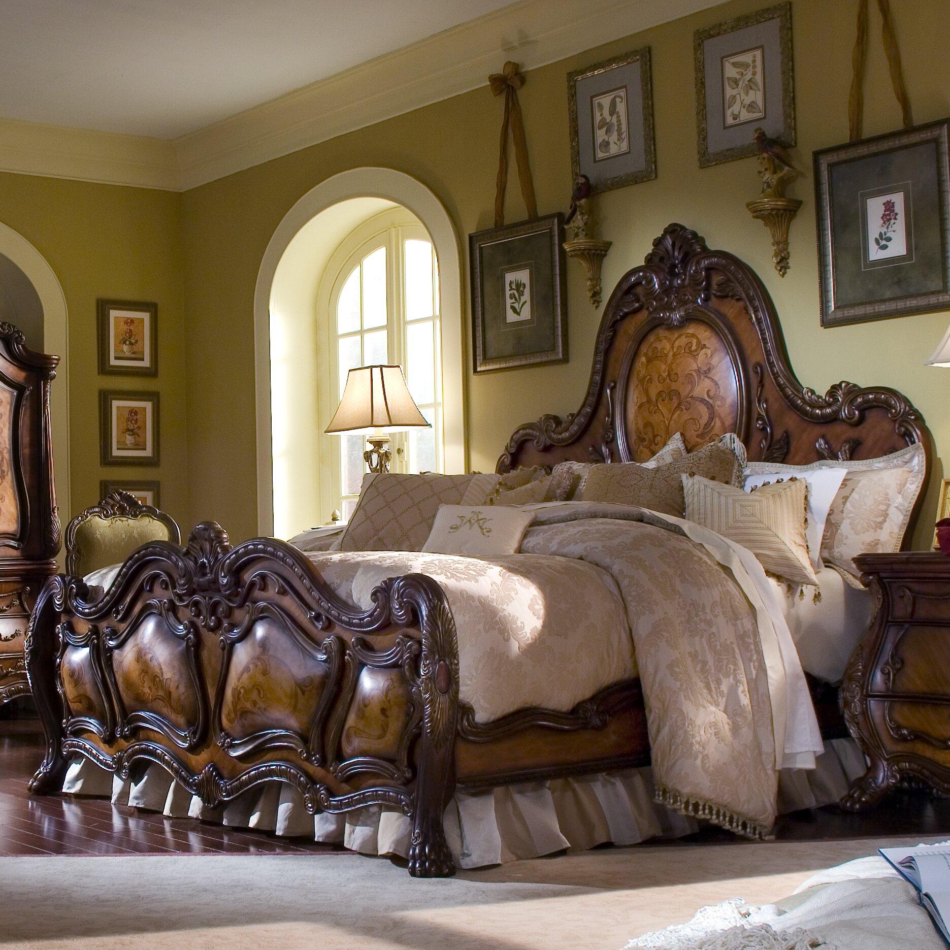 Michael Amini Chateau Beauvais Panel Customizable Bedroom Set ...