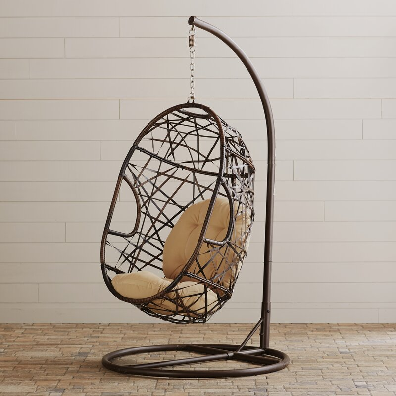 Adelia Egg Shaped Outdoor Swing Chair With Stand