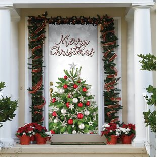 Merry Christmas Tree Front Door Mural