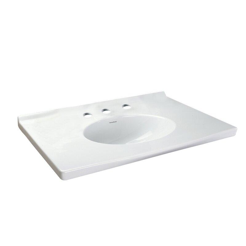 American Standard Portsmouth Single Bathroom Vanity Top Wayfair - 31 bathroom vanity with top