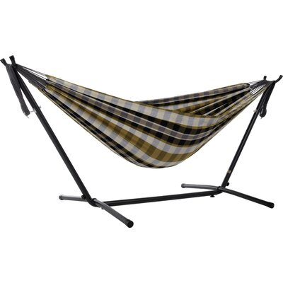 Beachcrest Home Dorinda Double Hammock with Stand Stand Color: Black, Color: Gold Coast