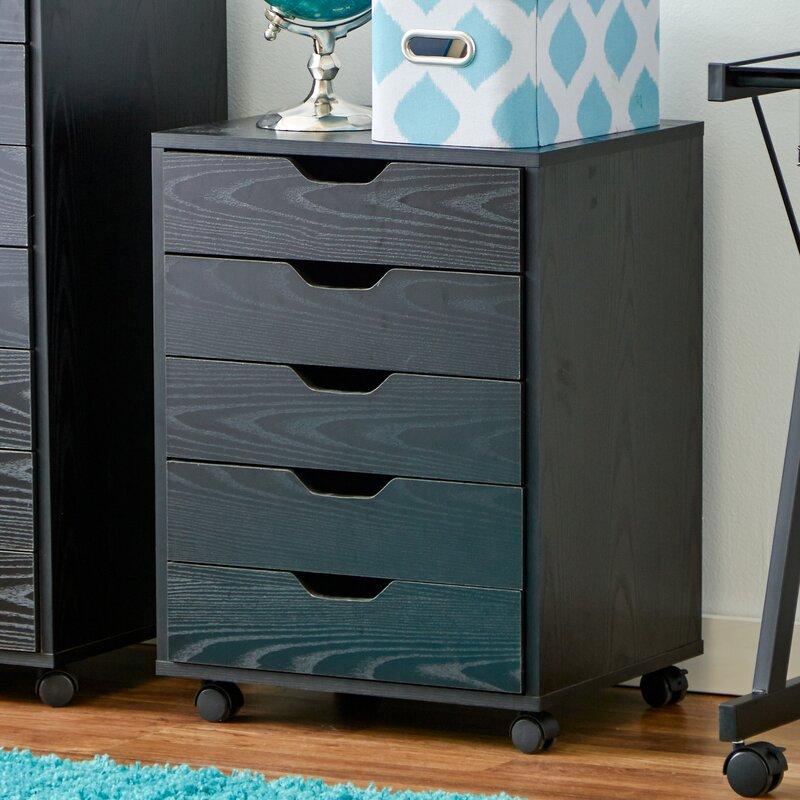 Zipcode Design Riley 5 Drawer Halifax Mobile Cabinet & Reviews ...