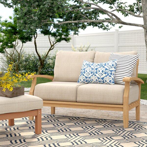 Birch Lane™ Heritage Summerton Teak Loveseat With Cushions U0026 Reviews |  Birch Lane