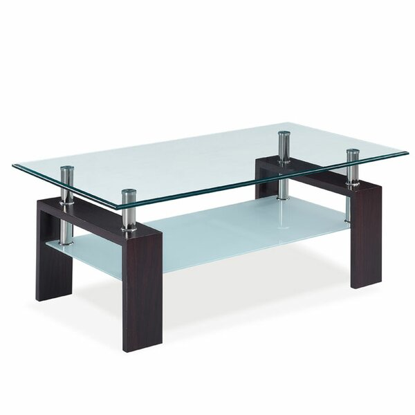 Glass coffee tables you39ll love wayfair for Wayfair glass top coffee table