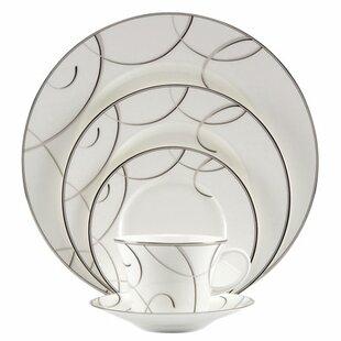 Elegant Swirl Bone China 5 Piece Place Setting Service for 1  sc 1 st  Wayfair & Elegant Plastic Dinnerware | Wayfair