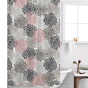 pink grey shower curtain. Charlotte Shower Curtain  Blue Pink Gray Silver Curtains You ll Love Wayfair