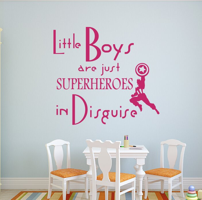 zoomie kids godinez little boys are just superheroes quote wall