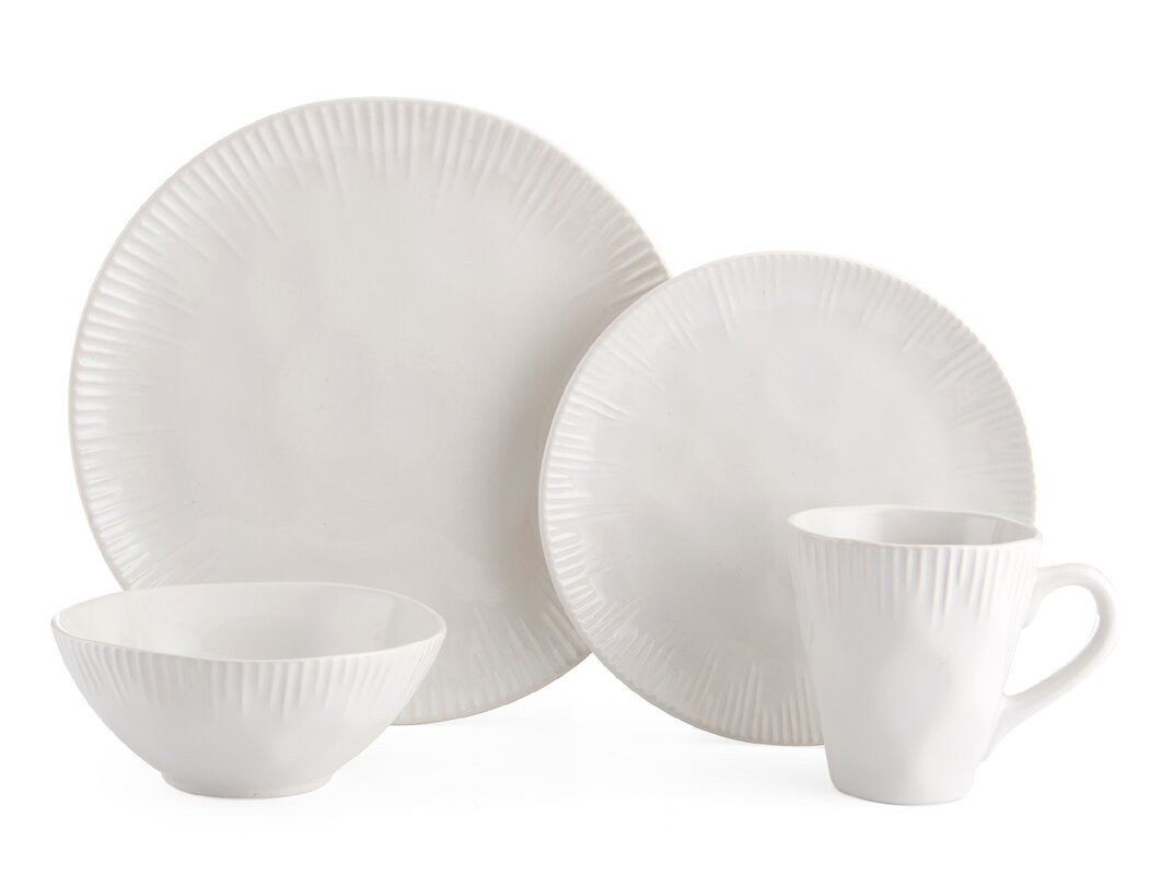 Birch 16 Piece Dinnerware Set Service for 4  sc 1 st  Wayfair & Cottage u0026 Country Dinnerware Sets Youu0027ll Love | Wayfair