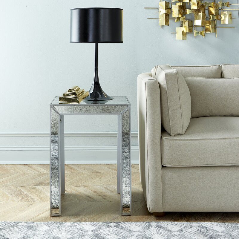 table venetian crown french side contemporary mirrored tables furniture aged