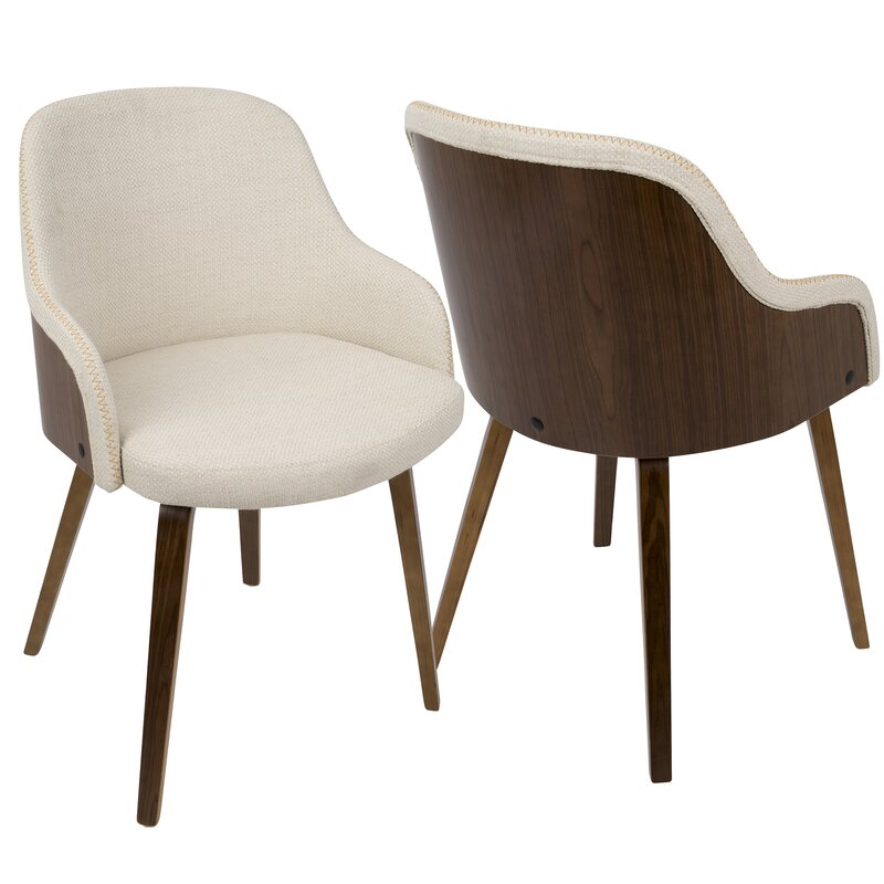 Ordinaire Brighton Mid Century Modern Upholstered Dining Chair