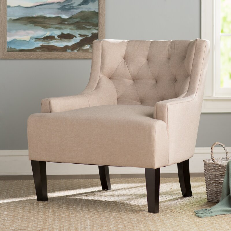 Three Posts Barwood Tufted Wingback Chair Amp Reviews Wayfair