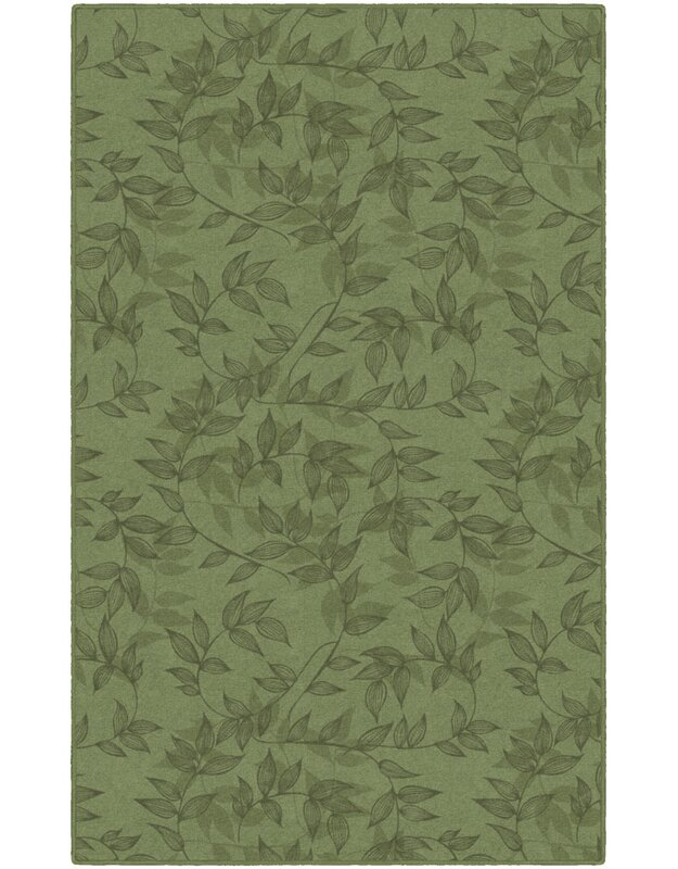 Winston Porter Roxana Floral Green Area Rug, Size: Rectangle 76 x 10