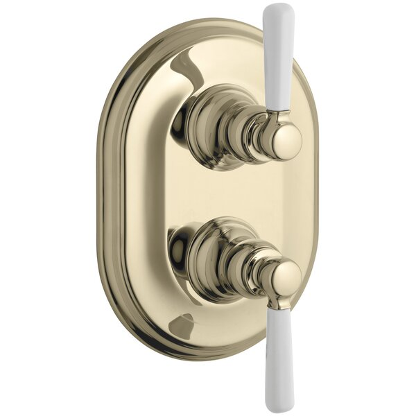 Kohler Bancroft Stacked Valve Trim With White Ceramic Lever Handles,  Requires Valve U0026 Reviews | Wayfair