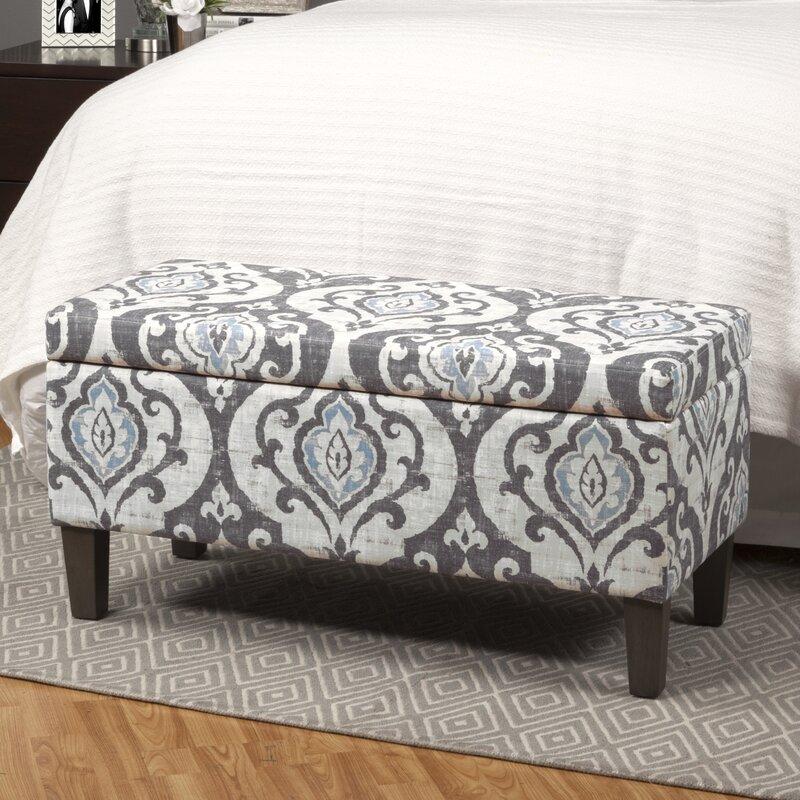 Bungalow Rose Navya Wood Storage Bedroom Bench Reviews: Bungalow Rose Lexie Storage Ottoman & Reviews