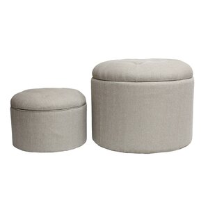 2 Piece Nested Shoe Ottoman by HD Couture
