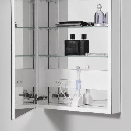 """PL Series 15.25"""" x 30"""" Recessed or Surface Mount Medicine Cabinet"""
